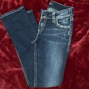 "Like new silver jeans ""suki mid straight"" w27/L30"